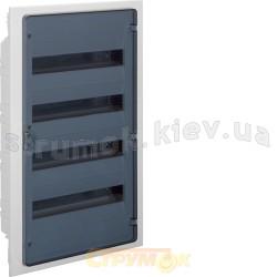 Щит пластиковый Hager 72 модуля (4х18) (врезной) прозрачная дверца GOLF VF418TD