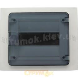 Щит пластиковый на 8 модулей врезной с прозрачной дверцей (1х8) GOLF VF108TD
