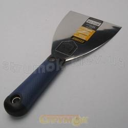 Шпательная лопатка из нержавеющей стали 100 мм с плоской ручкой