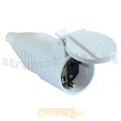Штепсельное гнездо Z с заземлением белое 16A ГП (212) ACKO A0080030009