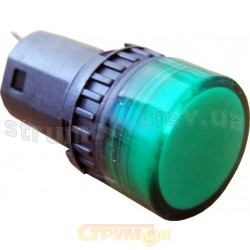 Сигнальная арматура АD16-16DS 24V АС/DC зеленая Укрем АсКо
