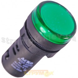Сигнальная арматура (зеленая) АD22-22DS 24V AС/DC