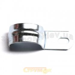 Скоба держатель оцинкованная односторонняя, д.19 - 20мм ДКС 53342