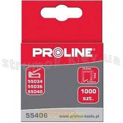 Скоба для степлера 10мм тип 53 набор 1000шт PROLINE 55410
