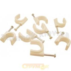 Скоба пластиковая с гвоздем №8 Укрем АсКо A0150030005