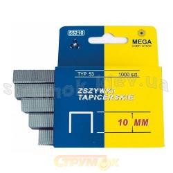 Скобы для степлера MEGA 55214, тип 53, 14 мм, 1000 шт