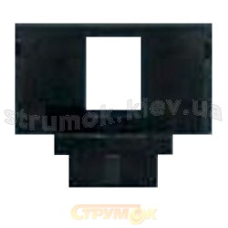 Суппорт для коммуникационных розеток 1-одинарный 5014E-B01017 ABB Time черный