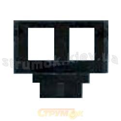 Суппорт для коммуникационных розеток 2-двойной 5014E-B01018 ABB Time черный
