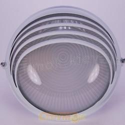 Светильник круглый пол-решетки Horoz H907WL 60W  Е27 белый ІР54  Ø170х80мм