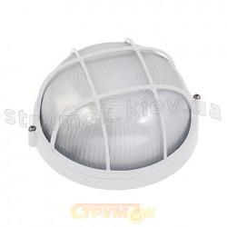 Светильник круглый решетка Horoz HL906 60W, Е27, белый ІР54, Ø 180мм
