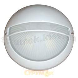 Светильник овальный решетка Horoz HL924 20W(КЛЛ-100W) белый ІР54, Ø180мм
