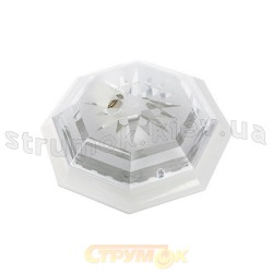 Светильник пластиковый восьмигранный Elmas 35 2хЕ27 белый РА-512