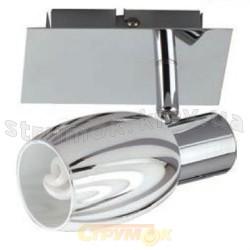 Светильник с подсветкой Horoz HL790 матовый хром/белый
