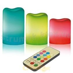 Светильник светодиодный Led Delux TF-200 свечки 3шт. RGB с пультом 10087605