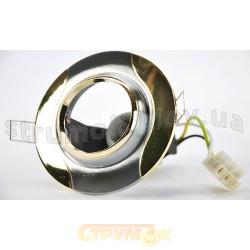 Светильник точечный Delux DR50107R R50 220V хром матовый/золото 10008623