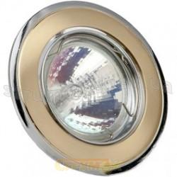 Светильник точечный Delux HDL16002 MR16 12V золото матовое - хром 10008654
