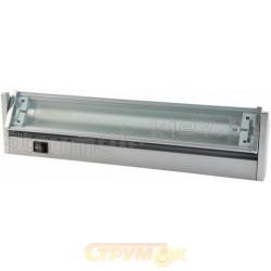 Светильник DELUX FLF T5 13W,6400K, 570мм (серебряный)