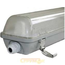 Светильник люминесцентный Delux_PC7 236 2х36W PC_ЛПП 2х40 ІР65 герметичный влагозащищенный с металлическими защелками