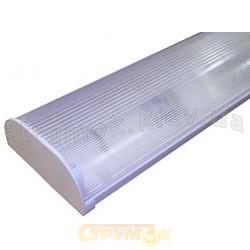 Светильник люминесцентный ЛПО 16-2х36-002 ГАММА236 прозрачный