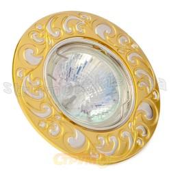 Светильник точечный Delux HDL16110R MR16 12V жемчужное золото - серебро 10008700