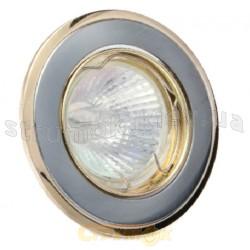 Светильник точечный DELUX HDL11002 MR11 12V золото матовое / хром