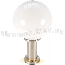 Светильник уличный DELUX GLOBE 450 E27,IP44, плафон - белый матовый шар, столбик - нержавеющая сталь