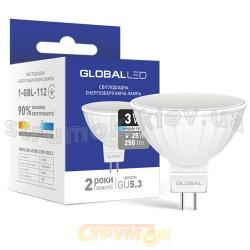 Светодиодная лампа GLOBAL LED MR16 3W 4100K 220V GU5.3 1-GBL-112 MAXUS