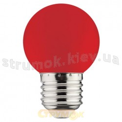 Светодиодная лампа LED Horoz 1W E27 220V красная 001-017-0001-11