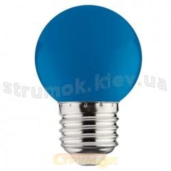 Светодиодная лампа  Horoz 1W E27 220V синяя 001-017-0001-13