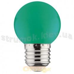 Светодиодная лампа LED Horoz 1W E27 220V зеленая 001-017-0001-12