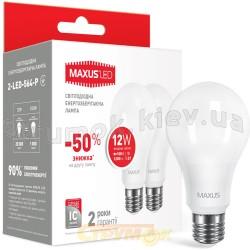 Светодиодная лампа Maxus 2-LED-564-P A65 12W 4100K 220V E27