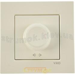 Светорегулятор 600W поворотный Viko Karre кремовый цвет 90960120