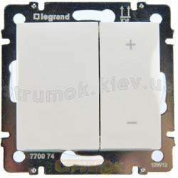 Светорегулятор кнопочный 40-600Вт Legrand Valena 770074 белый