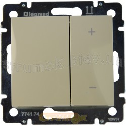 Светорегулятор кнопочный 40-600Вт Legrand Valena 774174 слоновая кость