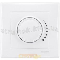 Светорегулятор поворотно-нажимной 25-500 Вт Sedna Schneider SDN2200521 белый цвет