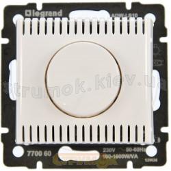 Светорегулятор поворотный 100-1000Вт Legrand Valena 770060 белый