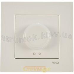 Светорегулятор поворотный 600W Viko Karre 90960020 белый цвет