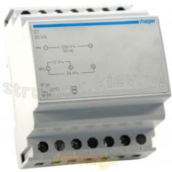 Трансформатор на динрейку ST313 230В/24 В (0,67А), 230В/12 (1,33А) 4м