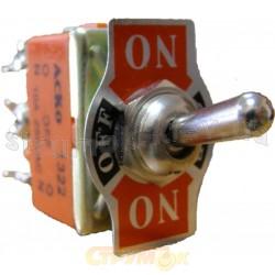 Тумблер 1322 3 положения/ 6 контактов Укрем АсКо A0140060006