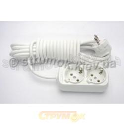 Удлинитель электрический 2 гнезда/ 2 метра Z (с заземлением) LILAC Турция