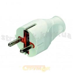 Вилка электрическая Z с заземлением прямая каучук PROFITEC