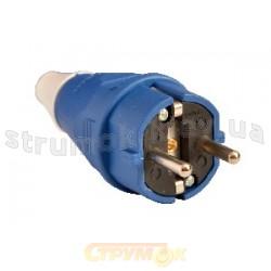 Вилка электрическая Z с заземлением синяя ВП(012) ACKO A0080010012