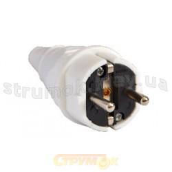 Вилка электрическая Z с заземлением ВП(012) ACKO A0080010013 белая