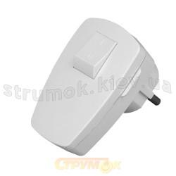 Вилка с выключателем KOPP 170402006 евро белая