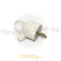 Вилка штепсельная Z угловая с кольцом Luxel 1011