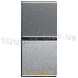 Выключатель 1-клавишный 1 модуль ABB Zenit N2101 PL серебряный