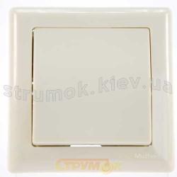 Выключатель 1-клавишный бежевый цвет GES 2100-001-0102
