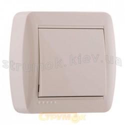Выключатель 1-клавишный накладной LEZARD DEMET 711-0300-100 кремовый цвет