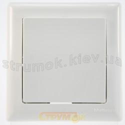 Выключатель 1-клавишный проходной белый цвет GES