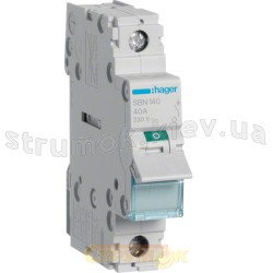 Выключатель нагрузки SBN140 40А 230V 1-полюсный Hager